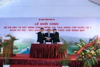Khoi cong QL1 Ha Noi - Bac Gian_2