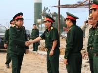 Đ/c Đại tướng Phùng Quang Thanh Ủy viên BCT, Bộ trưởng BQP kiểm tra Công trình Trường ĐH Chính trị do TCT319/BQP thì công